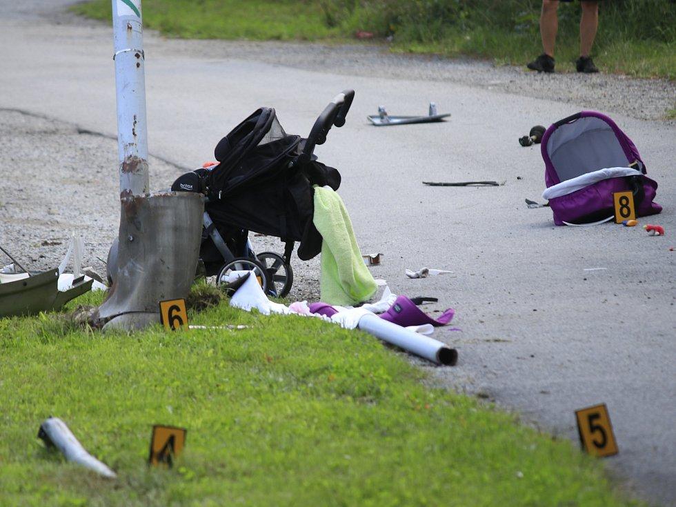 Následky tragické nehody v Humpolci