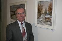 Pavlu Dvořákovi učarovala tlumená barevnost zimy a předjaří jeho rodné Vysočiny. Naposledy svá díla vystavoval v Pacově.