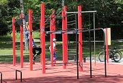 Workoutové hřiště v Pelhřimově.