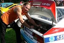 Bohuslav Krejčí ze Světlice předělal od základů vozidlo Škoda Rapid 130 z roku 1988.