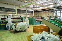 Takzvaná čistá část provozu prádelny pelhřimovské nemocnice.