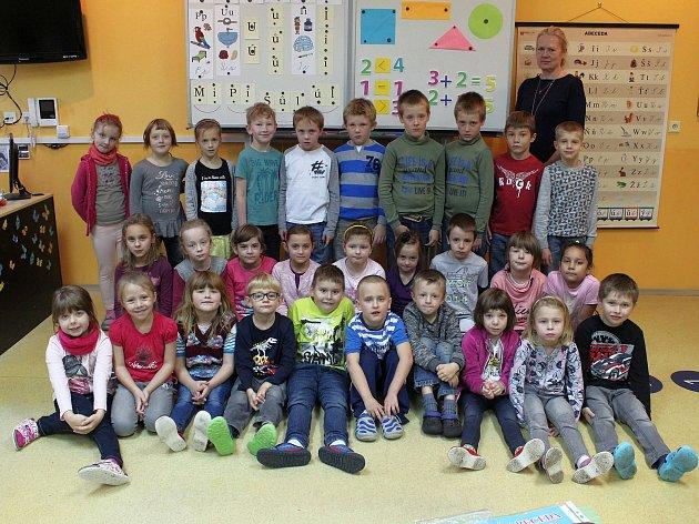 Na fotografii jsou žáci ze ZŠ Krásovy Domky vPelhřimově, třída 1.B paní učitelky Zuzany Sankotové.