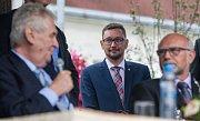Druhý den návštěvy prezidenta republiky v Kraji Vysočina. Setkání s občany města Humpolec.