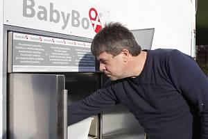 Baby box v pelhřimovské nemocnici.
