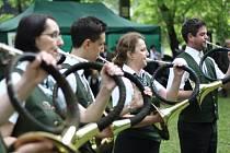 V Městských sadech soutěžili myslivečtí trubači.