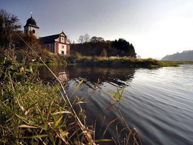 kostel svatého Víta v zaniklém městečku Zahrádka na Havlíčkobrodsku