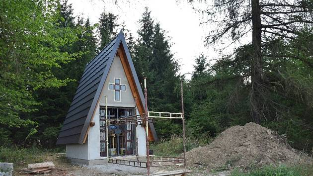 Nová kaple svatého Huberta.