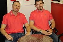 Miroslav Třetina (vlevo) strávil značnou část svého hokejové kariéry v dresu klubu z Havlíčkova Brodu.