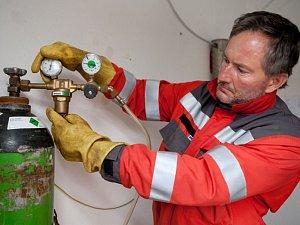 Nárazová odorizace zemního plynu.