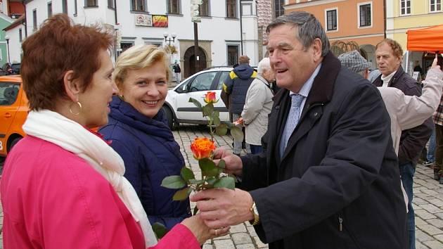 Předvolební mítink ČSSD v Pelhřimově