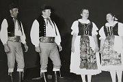 1985 – Československá spartakiáda v Praze. Na fotografii je (zleva) František Papež, Karel Štěpánek, Růžena Kučerová a Eliška Dolejšová.