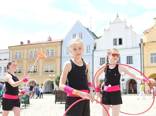 Akce Region tančí odstartovala na Masarykově náměstí v Pelhřimově.
