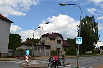 Úsporu slibuje nový typ LED osvětlení Luma 1, které je právě instalováno v humpolecké ulici Okružní.