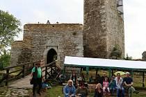 Zřícenina hradu Orlík.