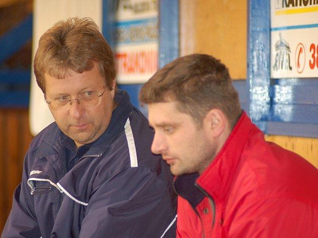 Stanislav Kašpar (vlevo) by si jako bývalý gólman rád vzal pod svá křídla právě brankáře.
