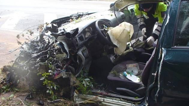 Nehoda u Velkého Rybníku.