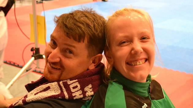 Trenér Petr Lacek s Ivetou Jiránkovou.