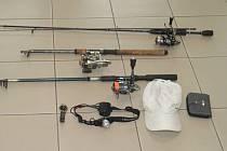 Ukradené rybářské náčiní