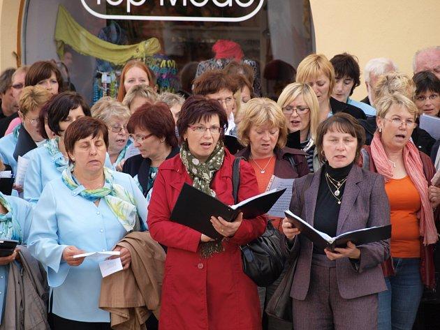 Oslavy 150. výročí založení pelhřimovského pěveckého sboru Záboj a uctění památky svatého Václava