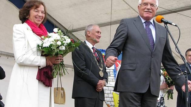 Prezidentský pár navštívil Pelhřimovsko
