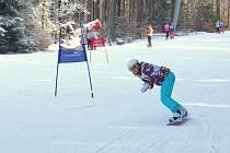 Žáci z Pelhřimova a Pacova proháněli na svahu lyže a snowboardy o sto šest.
