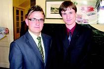 Vítězný Pavel Pospíchal (vpravo) a Ladislav Vejsada
