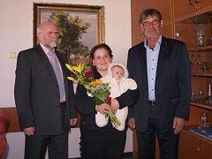 Prvním letošním občánkem Humpolce je Rozárie Faltová.