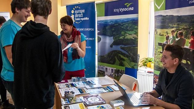 Veletrh mezinárodních příležitostí v Pelhřimově.