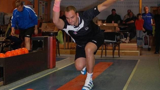 Lukáš Čekal ve druhé padesátce zářil. Porazil 266 kuželek.