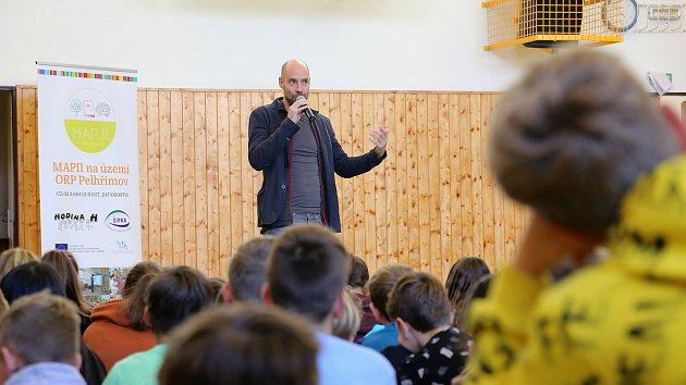 Klimatolog Alexandr Ač v Základní škole Krásovy domky