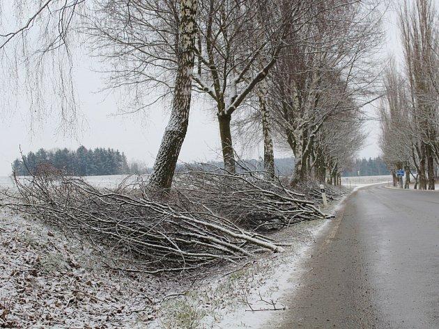 I když Pelhřimovsko zasypal sníh, cestáři se pustili do jarních prací.