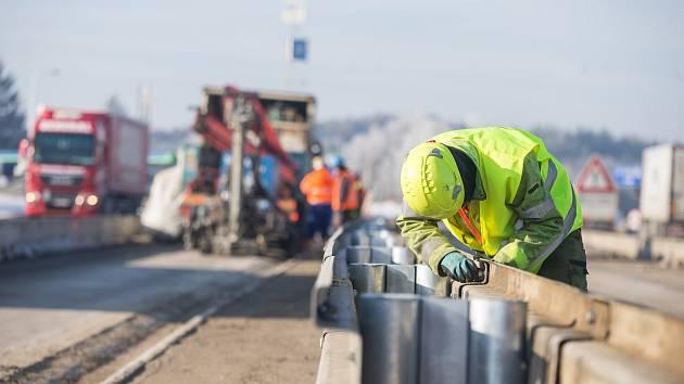 Opravy dálnice D1 na Vysočině, ilustrační foto