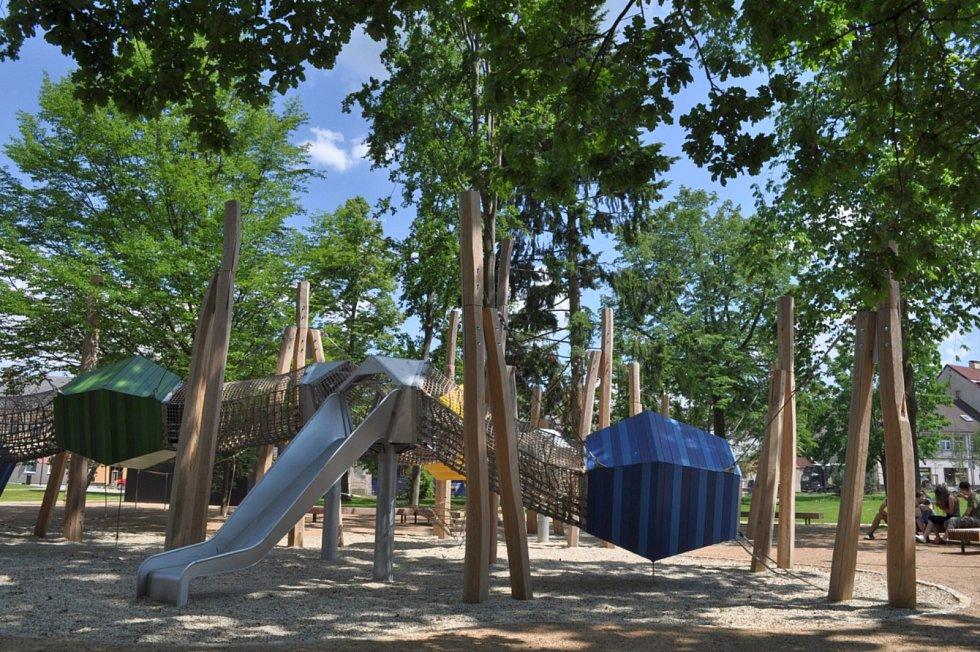 Dětské hřiště v Humpolci.