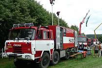 Na košetické Feuer show se lidé seznámí s nejrůznějším vybavebním profesionálních i dobrovolných hasičů.