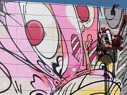 Mural art na okraji Humpolce.