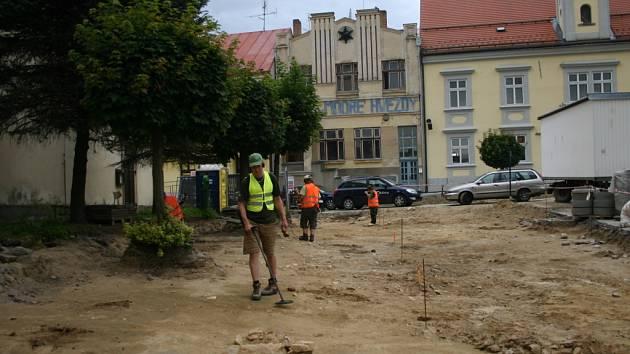 Archeologický výzkum na počáteckém náměstí