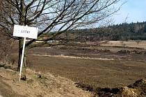 Plocha budoucího rybníku na Letnách u Dobré Vody