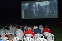 Na humpoleckém Žabáku uspořádali letní kino.