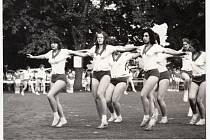 Okresní spartakiáda v Pelhřimově. Rok 1975. Foto: se svolením Milana Kotrče