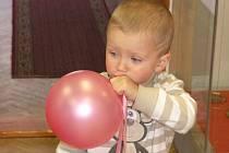Nafouknout balonek je mnohdy problémem pro kdejakého dospělého. V pondělí se v Pelhřimově o tento úkol pokusil i Michal Katolický z Velkého Meziříčí, kterému jsou dva roky a čtyři měsíce.