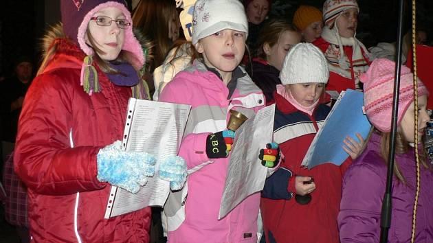 Vánoce na radnici - děti. Ilustrační foto