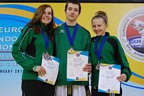 Tereza Schindlerová (vpravo)  udělala hodně pro zviditelnění jména klubu. Na juniorském mistrovství světa vybojovala bronz.