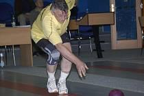Václav Novotný (na snímku) sice nezahrál v zápase s Novou Bystřicí špatně, ale za soupeře měl nejlepšího z hostů. Baudyš shodil výtečných 470 kuželek.