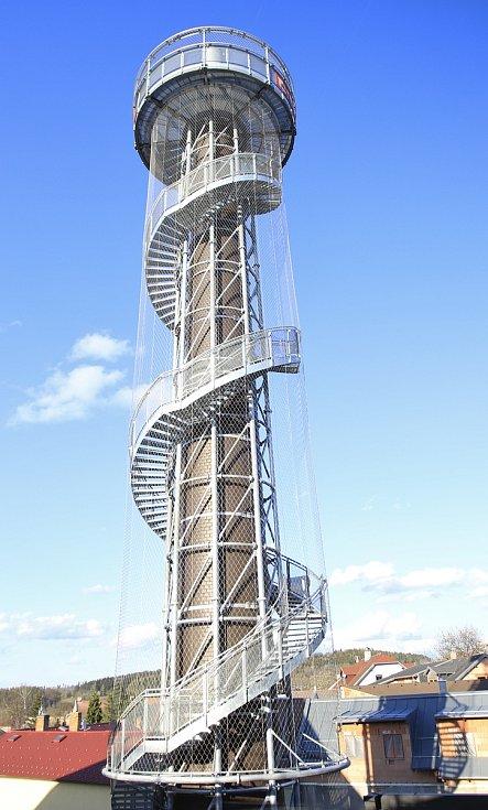Vyhlídková věž návštěvnického centra pivovaru Bernard.