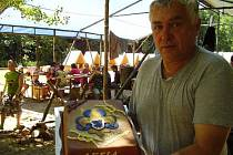 Jaroslav Klaška s dortem