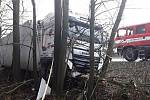 Nehoda kamionu u Rozkoše na okraji Humpolce.