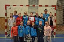 Výběr Vysočiny mladších žákyň opanoval turnaj v Plzni. Mladé házenkářky soupeřkám nenechaly ani bod.