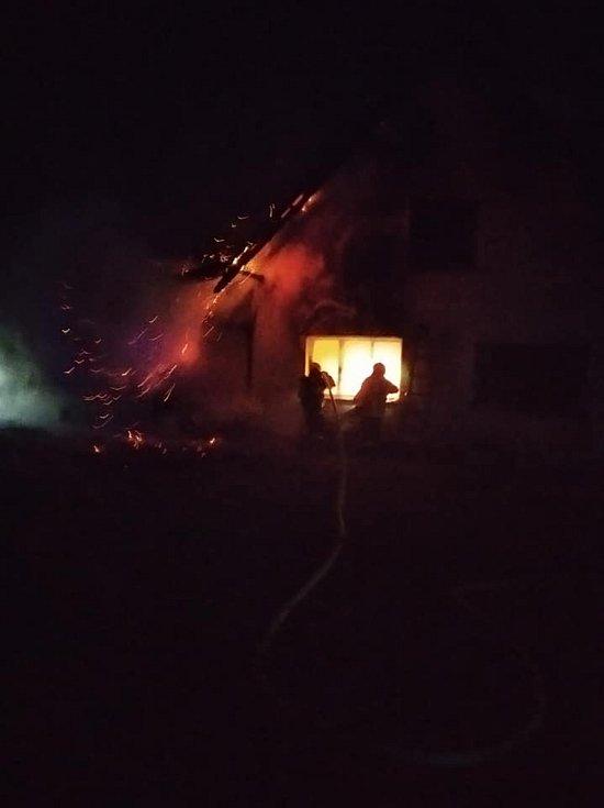Požár v Kramolíně.