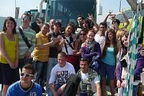 Účastníci mezinárodní výměny mládeže v Portugalsku.