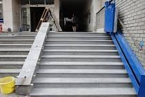 V Nádražní ulici byla obnovena také funkčnost pojízdné rampy pro vozíčkáře.